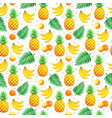 tropical fruits pattern vector image vector image