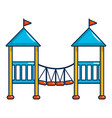Two castle kid icon cartoon style