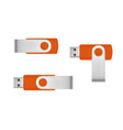 usb flash drive in on white background vector image vector image
