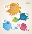 Watercolour circle Infographic vector image vector image