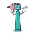 with ice cream otoscope character cartoon style vector image