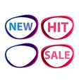 stickers sale new hit vector image