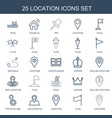 25 location icons vector image vector image