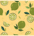 abstract seamless patterns with lime vector image