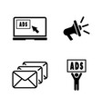 advertise simple related icons vector image vector image
