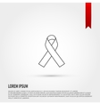 AIDS awareness ribbon icon vector image vector image