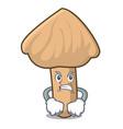 angry inocybe mushroom mascot cartoon vector image vector image