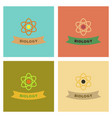 assembly flat icons biology molecule atom vector image vector image