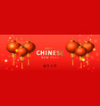banner happy chinese new year traditional red vector image
