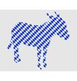 Bavarian donkey vector image vector image
