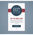 Best sale banner with best offer stamp vector image vector image