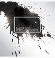 black ink splatter grungy background vector image vector image