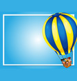 border template with kids in balloon vector image vector image