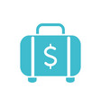 briefcase money business finance color silhouette vector image