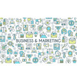 business and marketing banner vector image vector image