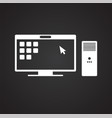 business it solution icon on black background for vector image