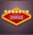 casino light sign wall signage with marquee vector image vector image