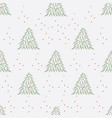 christmas tree pattern vector image