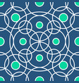 circle pattern including seamless sample in vector image vector image