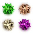 colorful realistic bows isolated on white vector image