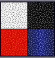 different color seamless patterns with stars vector image