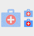 dotted medical case icons vector image vector image