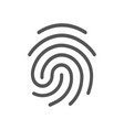 finger print icon isolated on vector image