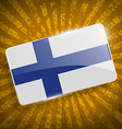 Flag of Finland with old texture vector image