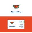 flat water melon logo and visiting card template vector image