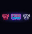free bonus neon text bonus neon sign vector image vector image