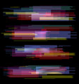 glitch elements set digital pixel noise color vector image vector image