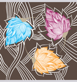 Graphic abstract flowers vector image vector image