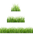 green grass set isolated white background vector image vector image