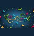 hand drawn carnival lettering festive party vector image