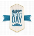Happy Fathers Day textile Poster with Ribbon vector image