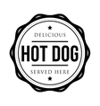 Hot Dog vintage stamp vector image vector image