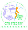icon world car free day vector image vector image