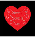 international happy womens day card design vector image