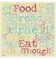 Israeli Food Guide text background wordcloud vector image vector image