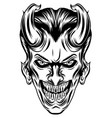 joker inspirations with long horns vector image vector image