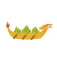 kawaii chinese rice dumplings cartoon characters vector image vector image