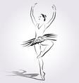 Line sketch of a ballerina vector image vector image