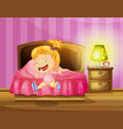 little girl runs in bedroom vector image vector image
