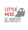 little miss bootiful beautiful boo text happy vector image