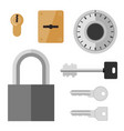 locks and keys flat icon vector image vector image