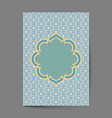 luxury cover page design with pattern background vector image vector image