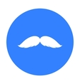 Man s mustache icon in black style isolated on vector image vector image