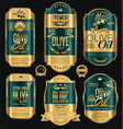 olive oil retro vintage background collection 5 vector image vector image