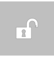 Open padlock computer symbol vector image