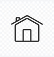 outline home or house icon isolated on vector image